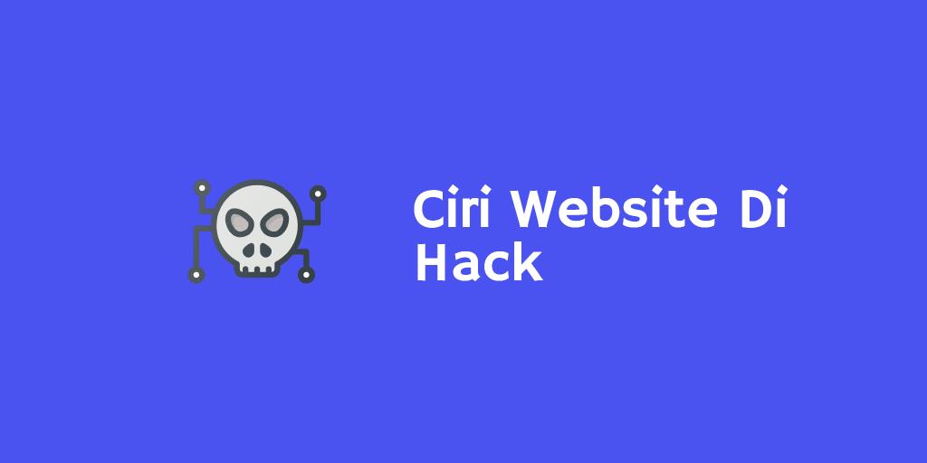 Ciri Website Di Hack